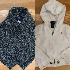Kid of 2 Ralph Lauren sweaters for girls size 3T